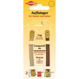 KLEIBER Mantel-Aufhänger, Kunstleder, braun / beige