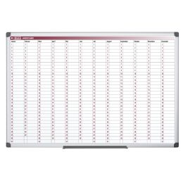 Bi-Office Planungstafel Jahresplaner, 900 x 600 mm