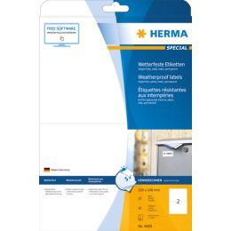 HERMA Inkjet Folien-Etiketten, 210 x 148 mm, weiß