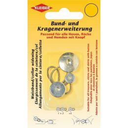 KLEIBER Bund- und Kragenerweiterung, mit Knopf, silber