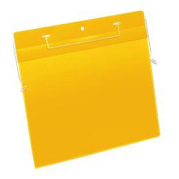 DURABLE Drahtbügeltasche, DIN A4 quer, gelb