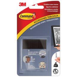 3M Command Bilder-Montagestreifen, Größe: M, schwarz