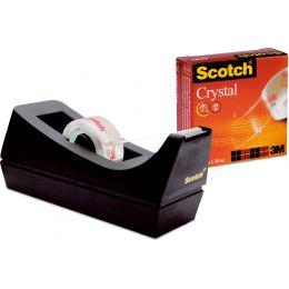 3M Scotch Tischabroller C38, inkl. Klebefilm Clear, schwarz