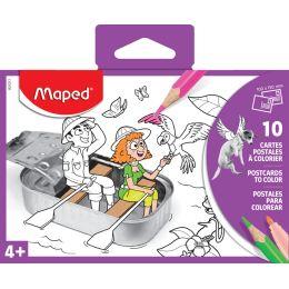 Maped Postkarten-Set zum Ausmalen, 10-teilig