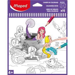 Maped Malbuch, 200 x 200 mm, Spiralbindung, 15 Seiten
