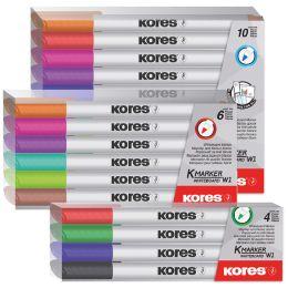 Kores Non-Permanent Marker K MARKER W1, 6er Etui