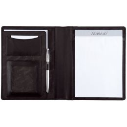 Alassio Schreibmappe BORMIO, DIN A5, Nappa-Leder, schwarz