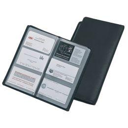 Alassio Visitenkarten-Album, für 120 Karten, Leder, schwarz