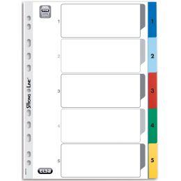 Oxfo Kunststoff-Register, Zahlen, DIN A4, farbig, 5-teilig