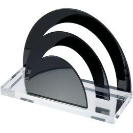 WEDO Briefständer acryl exklusiv, glasklar/schwarz