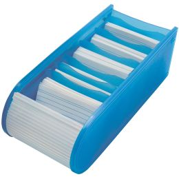 WEDO Lernkartei, DIN A8 quer, inkl. 100 Karteikarten, blau