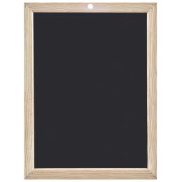 JPC Schreibtafel, blanko, (B)400 x (H)600 mm, schwarz