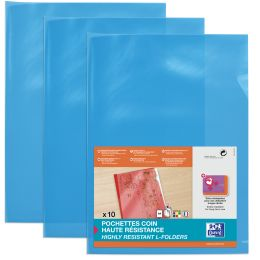 ELBA Sichthüllen, transparent, DIN A4, aus PVC, blau