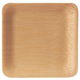 PAPSTAR Bambus-Fingerfood-Teller pure, eckig, 10er