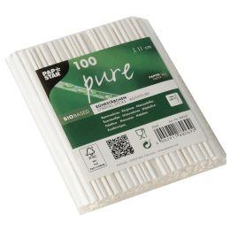 PAPSTAR Papier-Rührstäbchen pure, Länge: 110 mm, weiß