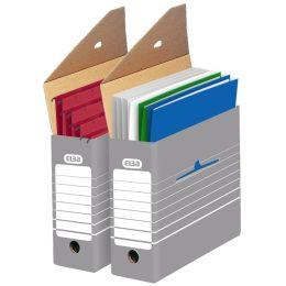ELBA tric Archiv-Schachtel, Breite 95 mm, für A4, grau/weiß