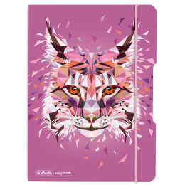herlitz Notizheft my.book flex Wild Animals Luchs, A5