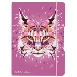 herlitz Notizheft my.book flex Wild Animals Luchs, A5