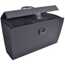 RAPESCO Fächertasche, DIN A4, 19 Fächer, schwarz