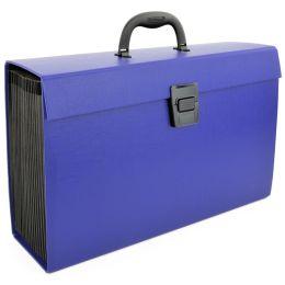 RAPESCO Fächertasche, DIN A4, 19 Fächer, blau