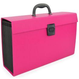 RAPESCO Fächertasche, DIN A4, 19 Fächer, pink