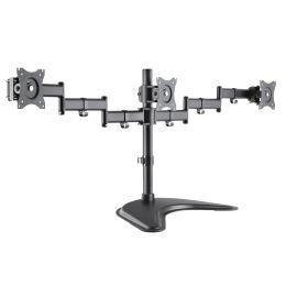 LogiLink TFT-/LCD-Monitorarm mit Standfuß, 3-fach, schwarz
