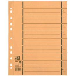 ELBA Trennblätter mit Perforation, DIN A4 Überbreite, gelb