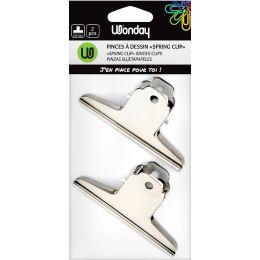 Wonday Briefklemmer spring clip aus Metall, Breite: 100 mm