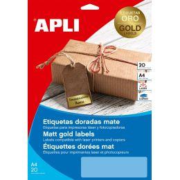 agipa Folien-Etiketten, 38,1 x 21,2 mm, gold