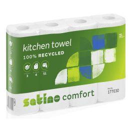 satino by wepa Küchenrolle Comfort, 3-lagig, hochweiß