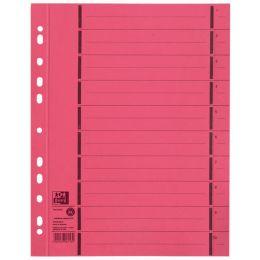 ELBA Trennblätter mit Perforation, DIN A4 Überbreite, rot