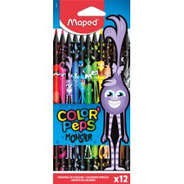Maped Dreikant-Buntstift COLORPEPS MONSTER, 12er Kartonetui