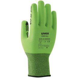 uvex Schnittschutz-Handschuh C500 dry, Gr.08, lime/anthrazit