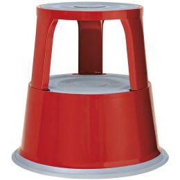 WEDO Rollhocker, aus Metall, rot / RAL 3000