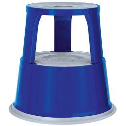 WEDO Rollhocker, aus Metall, blau / RAL 5002