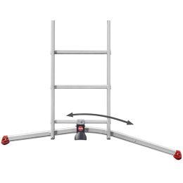 Hailo Alu-Kombileiter ProfiLOT S100, 3 x 12 Sprossen