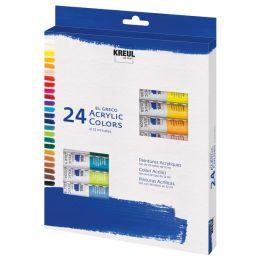 KREUL Acrylfarbe el Greco, 12 ml, 24er-Set