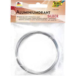 folia Aluminium-Basteldraht, 1 mm x 5 m, silber