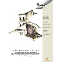 folia Schul-Aquarellblock, rauh, DIN A4, 150 g/qm, weiß