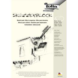 folia Skizzenblock, DIN A4, 120 g/qm, 50 Blatt