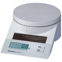 MAULtronic S Solar Briefwaage, Tragkraft: 5 kg, Farbe: weiß