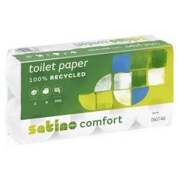 satino by wepa Toilettenpapier Comfort, 2-lagig, hochweiá