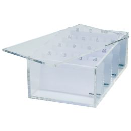 MAUL Acryl Visitenkartenbox, glasklar, inkl. A-Z Register