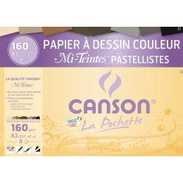 CANSON Zeichenpapier Mi-Teintes, DIN A3, Pastell Farben