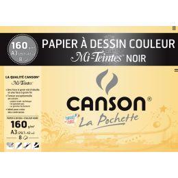 CANSON Zeichenpapier Mi-Teintes, DIN A3, schwarz