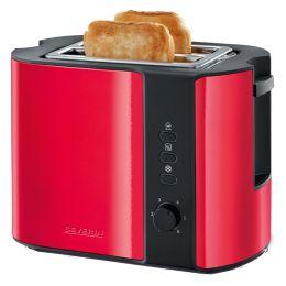 SEVERIN 2-Scheiben-Toaster AT 2217, 800 Watt, rot / schwarz
