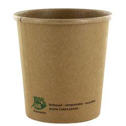 PAPSTAR Suppenbecher pure, rund, 350 ml, braun