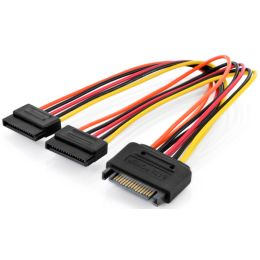 DIGITUS Internes Y-Stromkabel, SATA 15-pin, 0,3 m