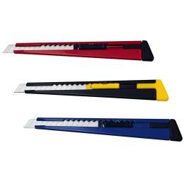 WEDO Metall-Cutter, Klinge: 9 mm, mit Clip, farbig sortiert