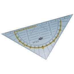 WEDO Geodreieck Standard, Hypotenuse 160 mm, transparent